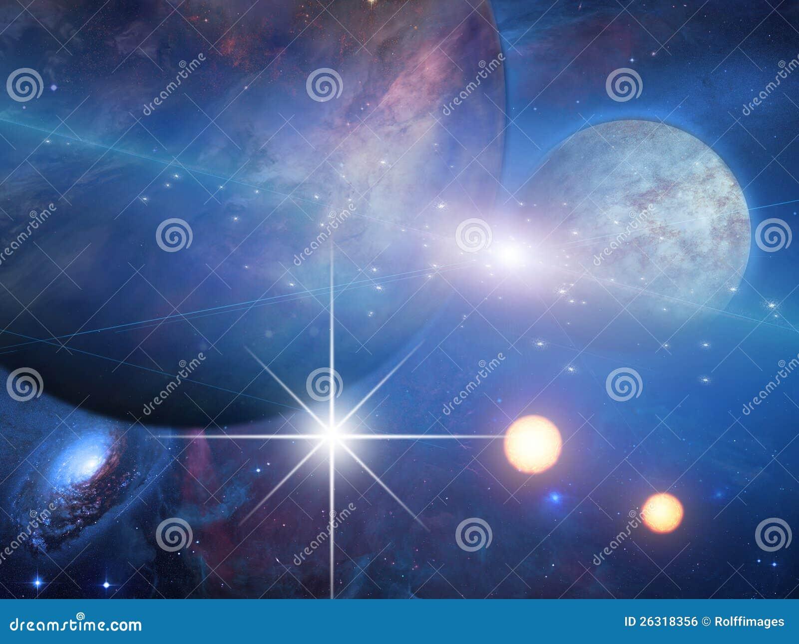 Planeten und Sonnen