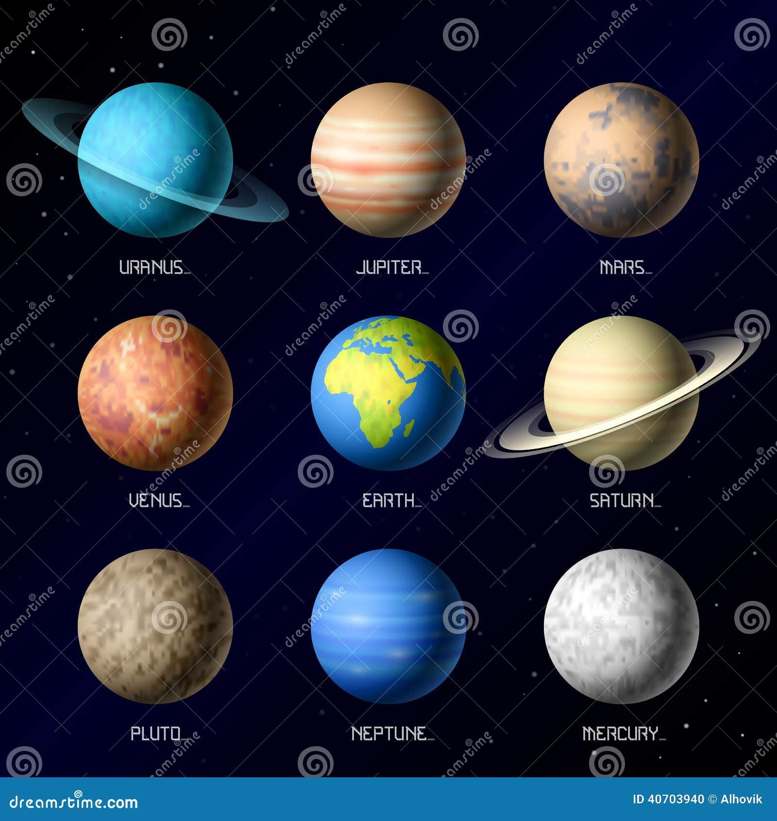 Planeten van Zonnestelsel