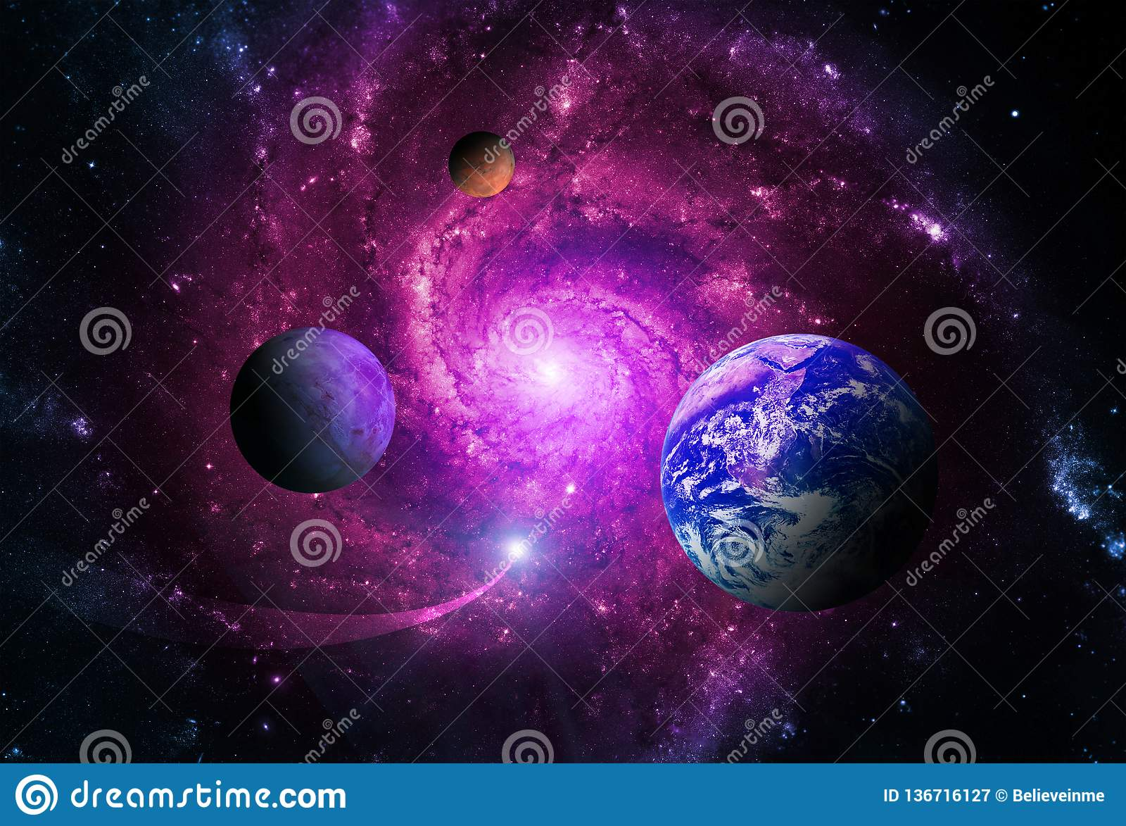 Planeterna av solsystemet tilldras av mitten av galaxen och ett massivt svart hål