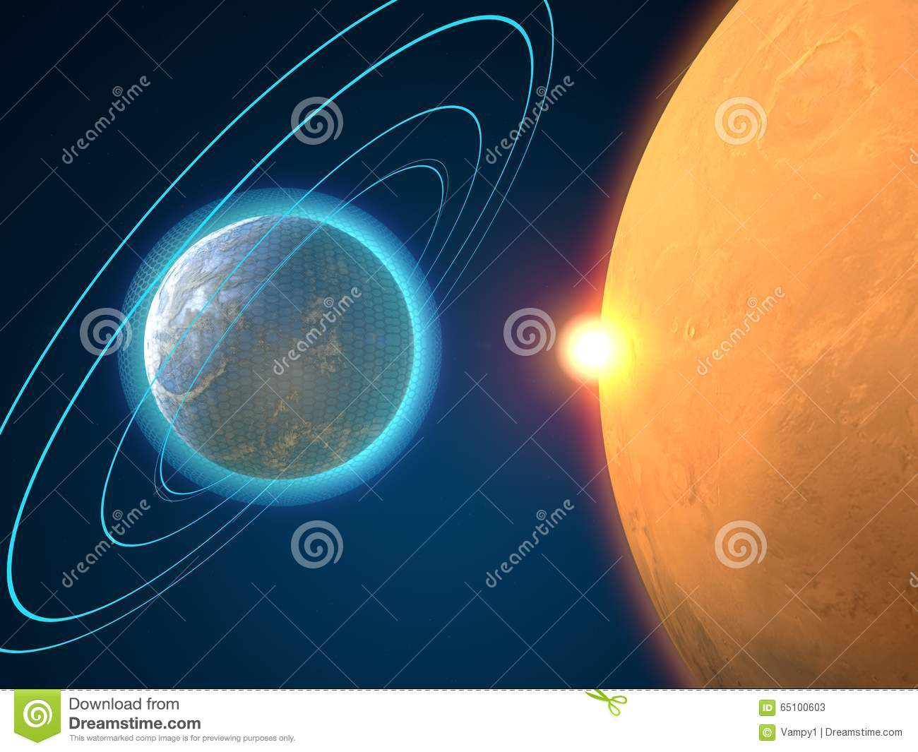 Planets in another galaxy space science fiction stock illustration image 65100603 - Galaxy and planets ...