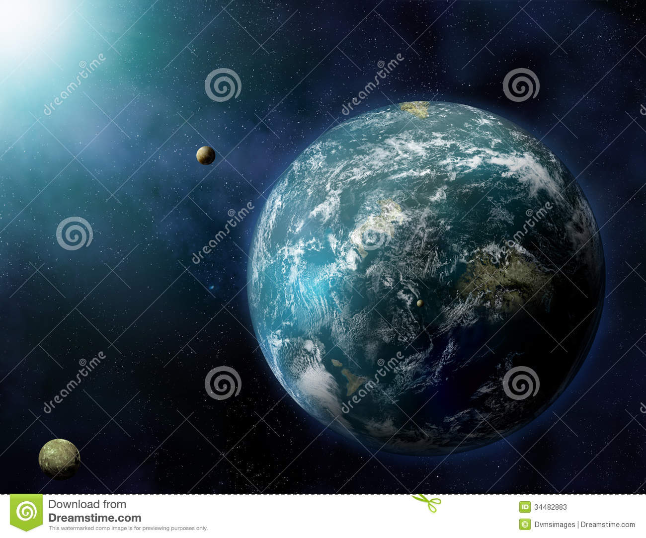 Solar System In Deep Space Stock Photos - Image: 34482883