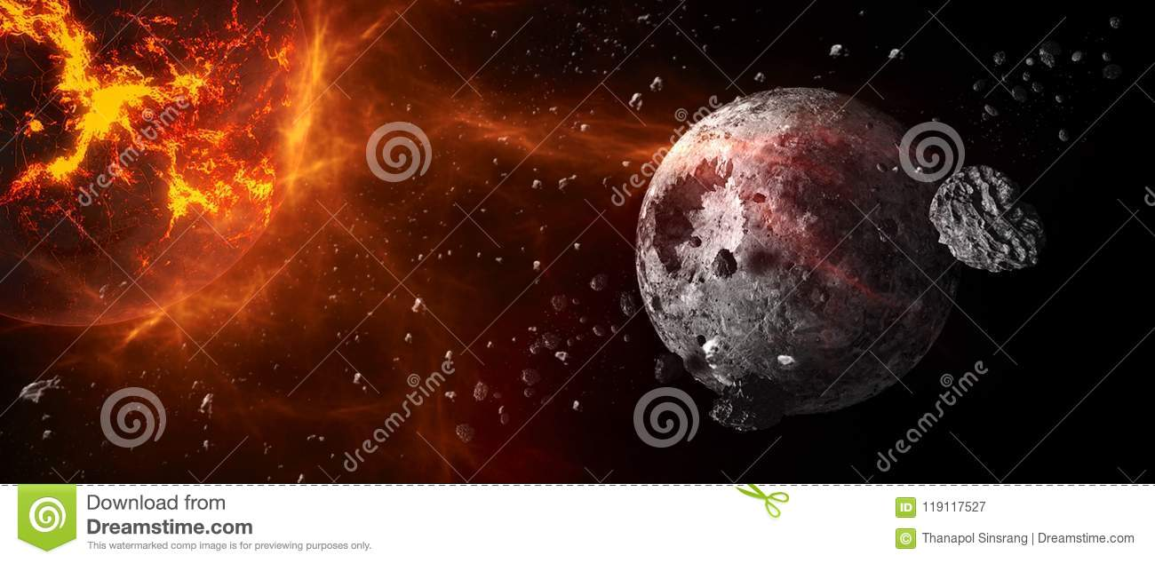 Planets and galaxies, science fiction wallpaper. Beauty of deep space.