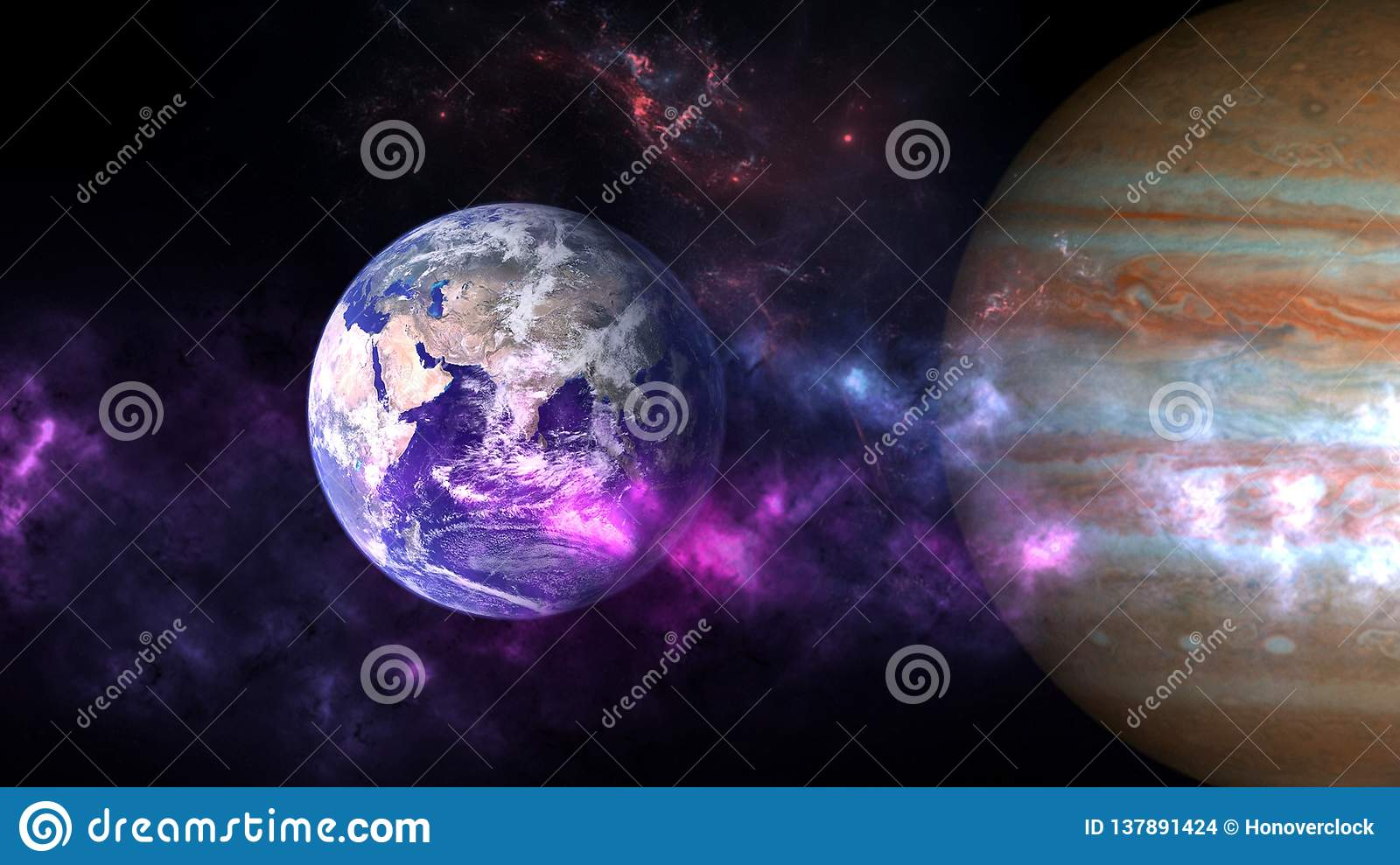 Planets and galaxy, cosmos, physical cosmology
