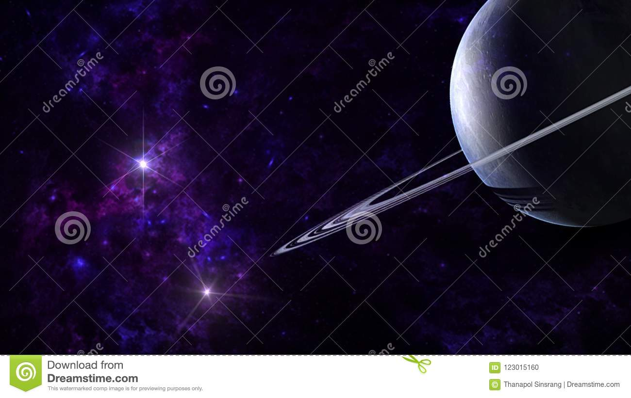 Planets and galaxy, science fiction wallpaper. Beauty of deep.