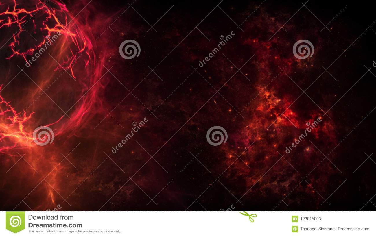Planets and galaxy, science fiction wallpaper. Stock photo image.