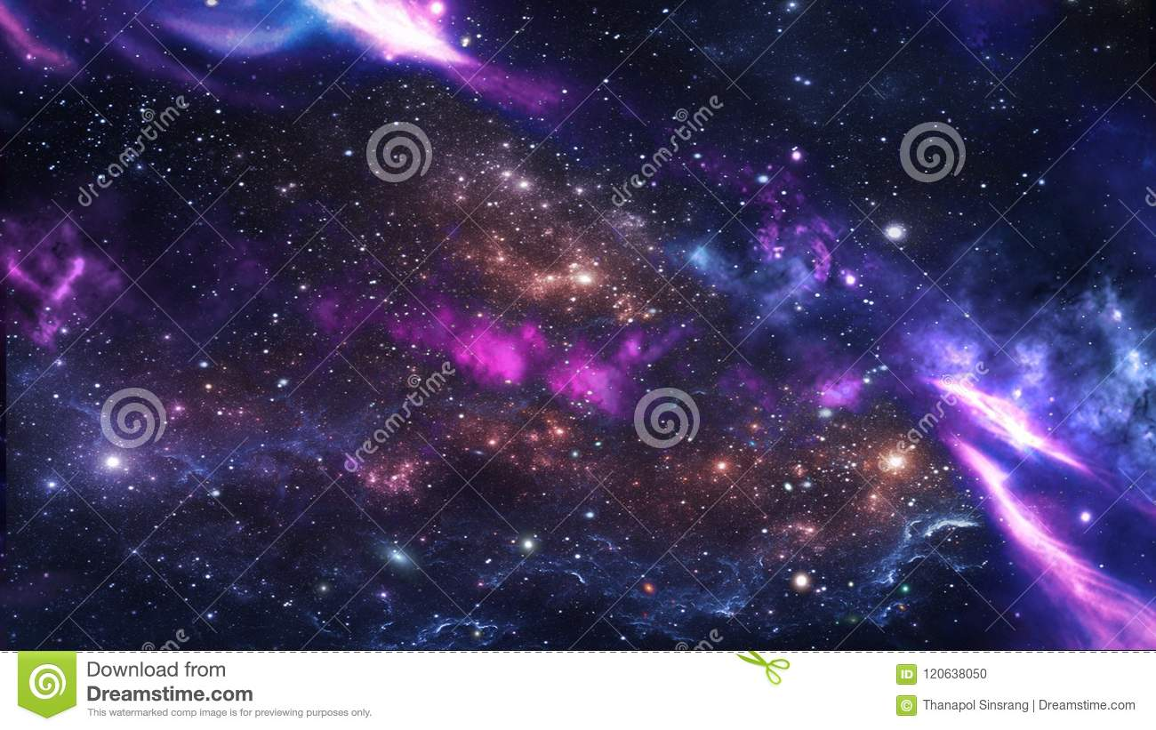 Planets and galaxy, science fiction wallpaper.