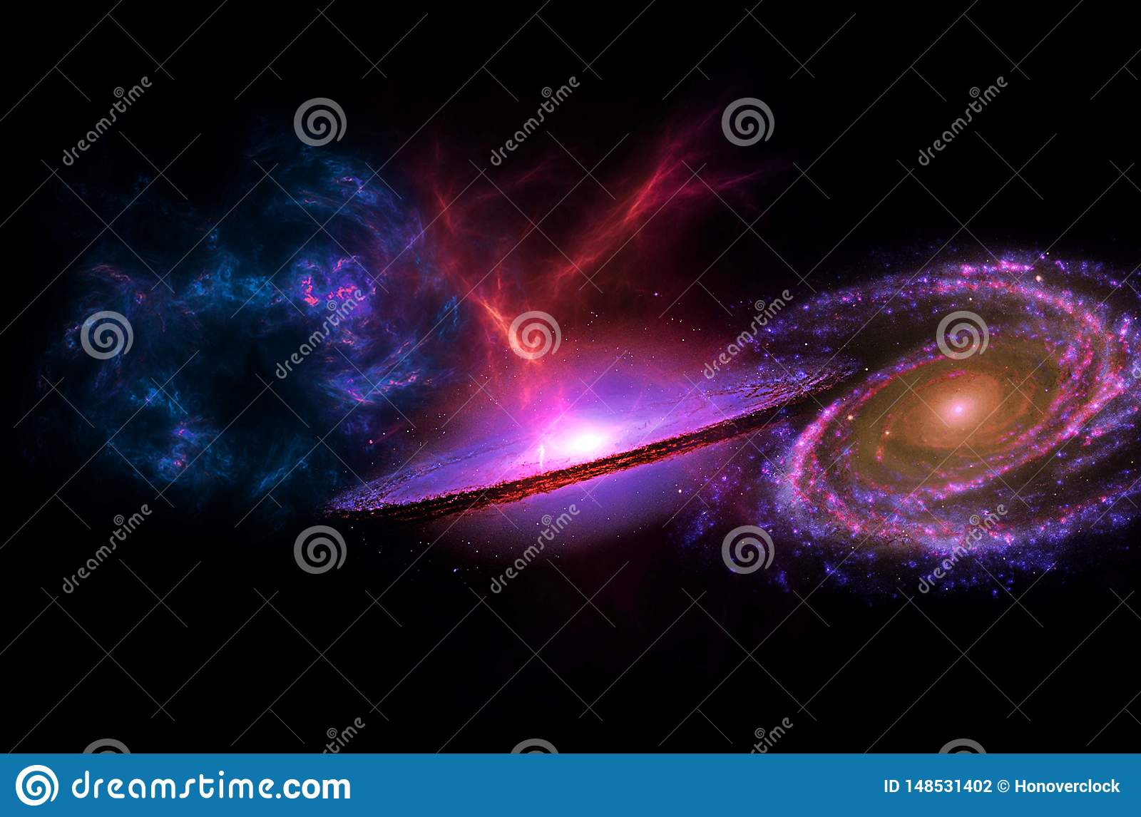 planets galaxy science fiction wallpaper beauty deep space billions universe cosmic art background vertical image 148531402