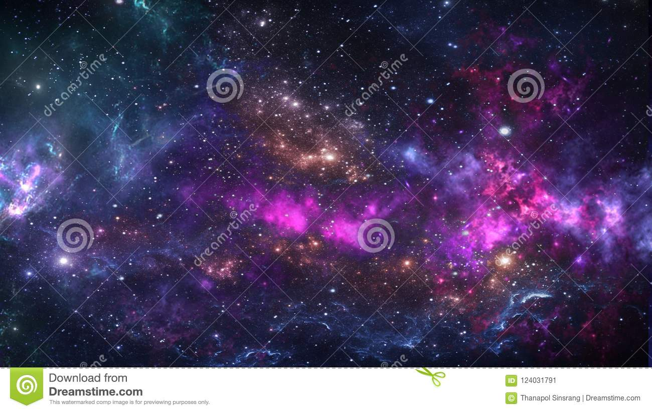 Galaxy science fiction department salon rate card background.