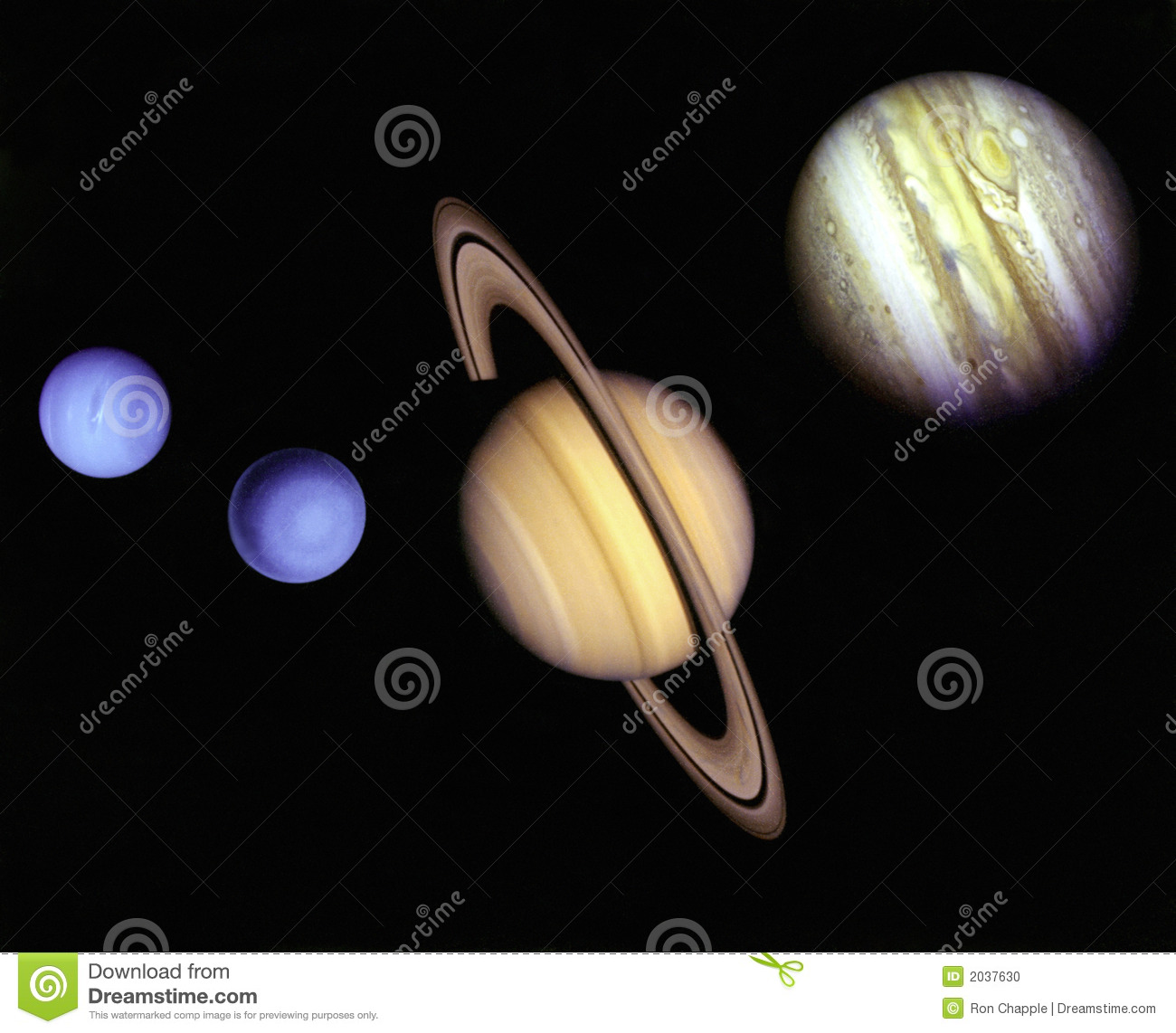 Planets in outer space stock illustration image of outer for Outer space planets