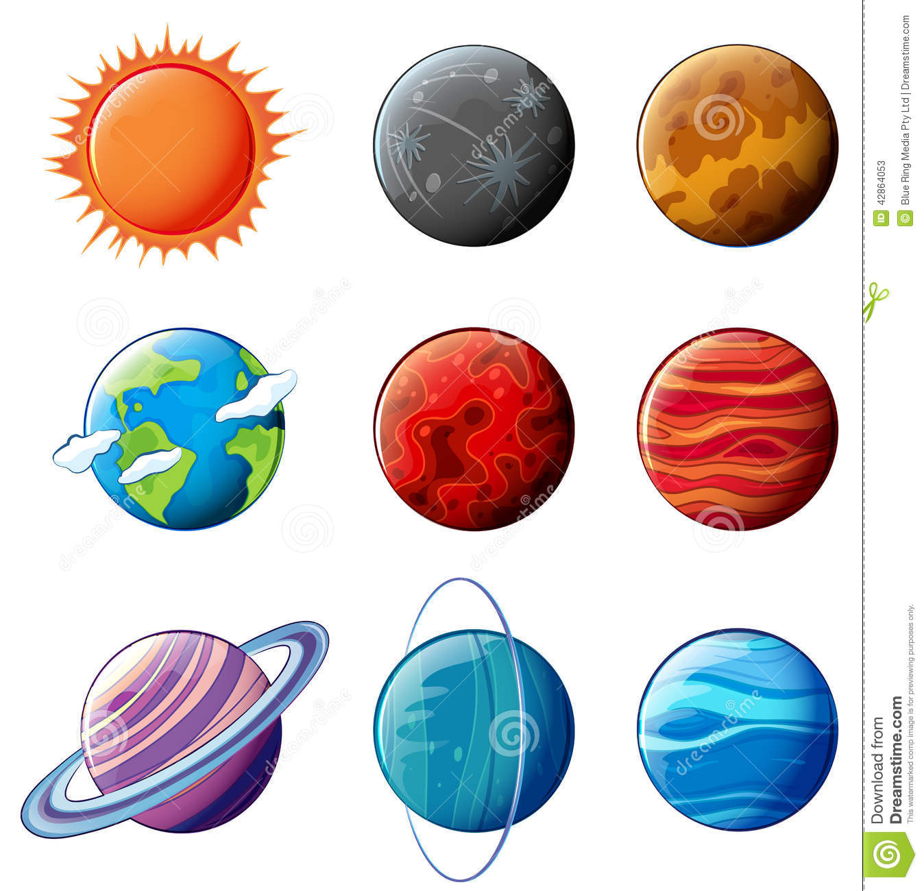Planets Of The Solar System Stock Vector - Image: 42864053