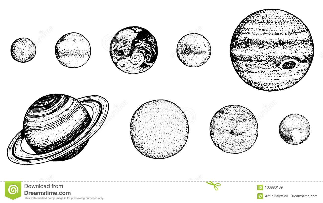 planets in solar system  moon and the sun  mercury and