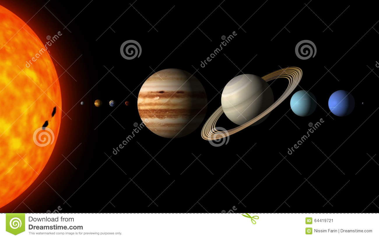 The Planets Of The Solar System By Order Stock Video - Video: 64419721