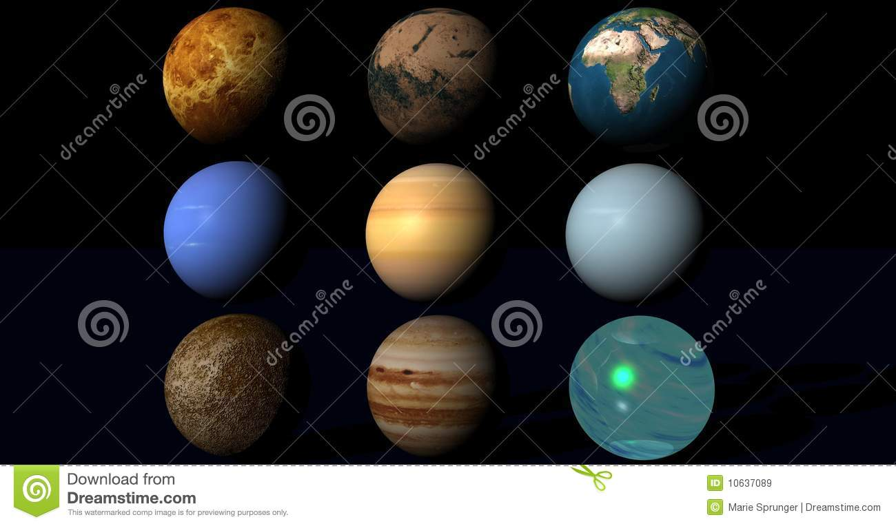 Planets In Univers Stock Illustration Illustration Of