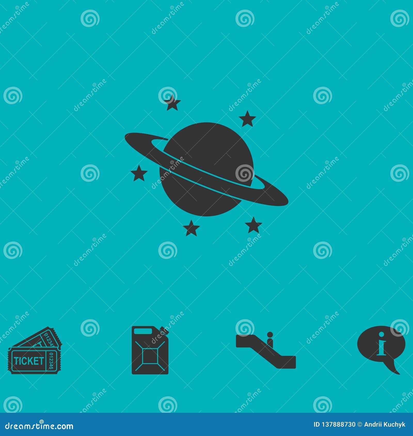 Planety ikony mieszkanie