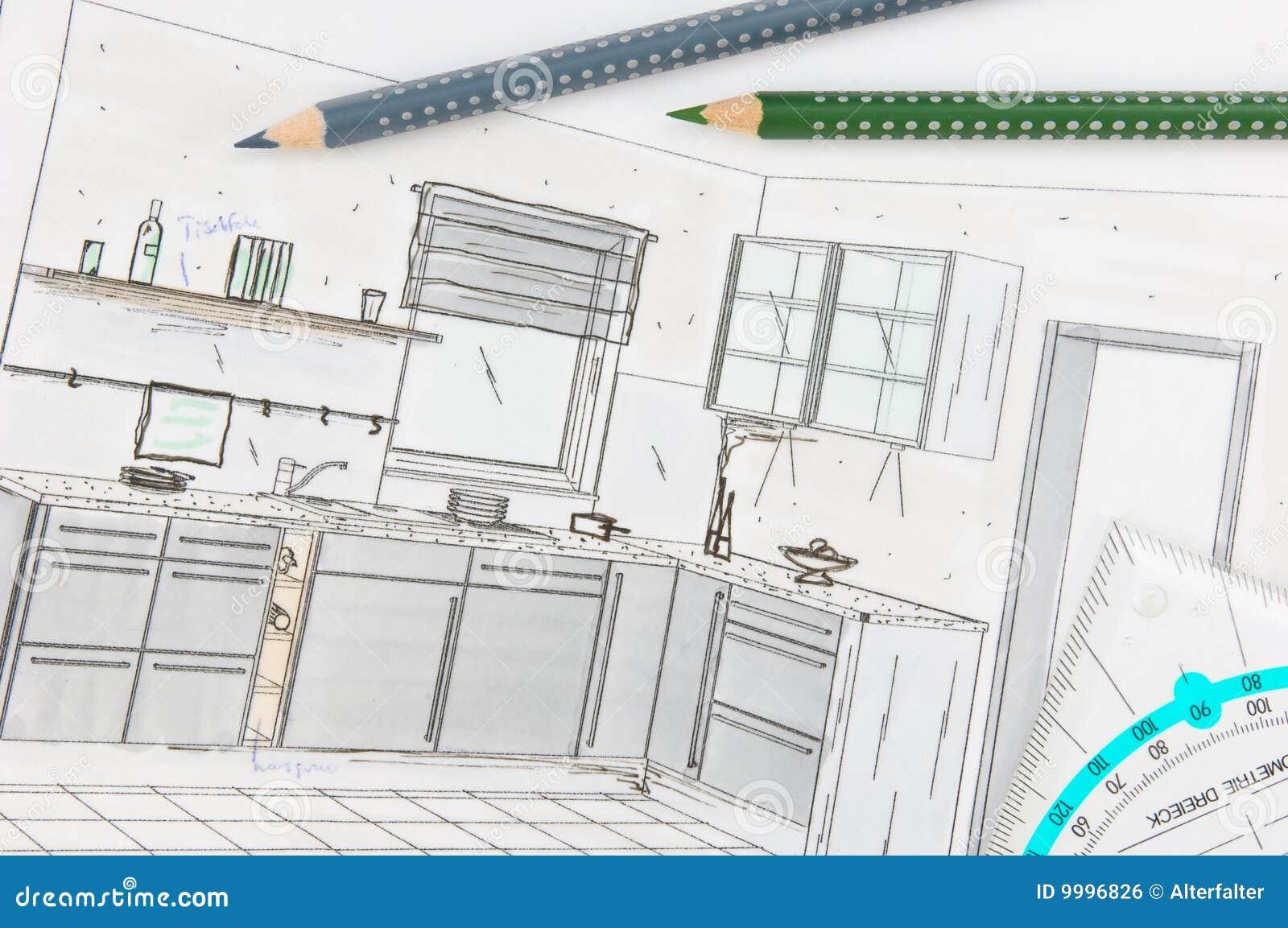Planification de cuisine image libre de droits image for Cuisine planification