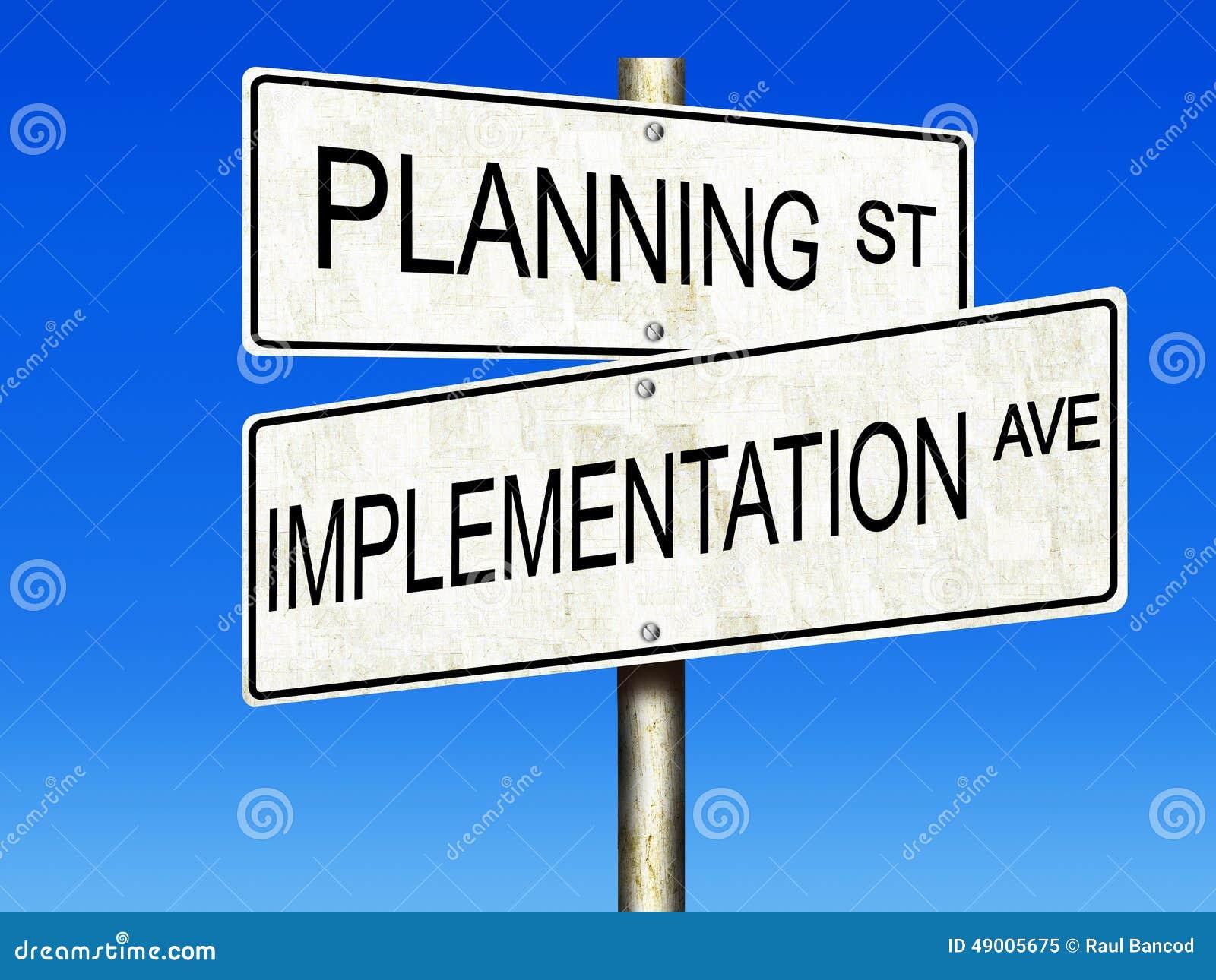 Planification et exécution