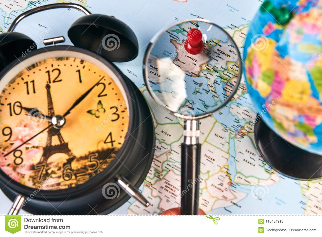 Planing for travel to france paris stock image image of guide download comp gumiabroncs Images