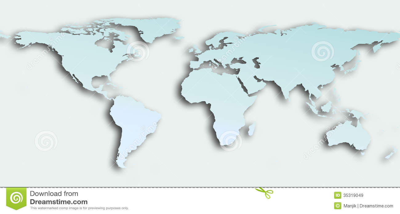 Planisphere Stock Illustration Image Of Europe Africa