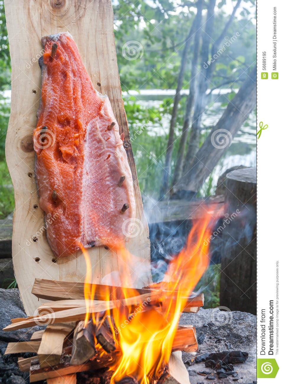 Cooking Fish With A Fire