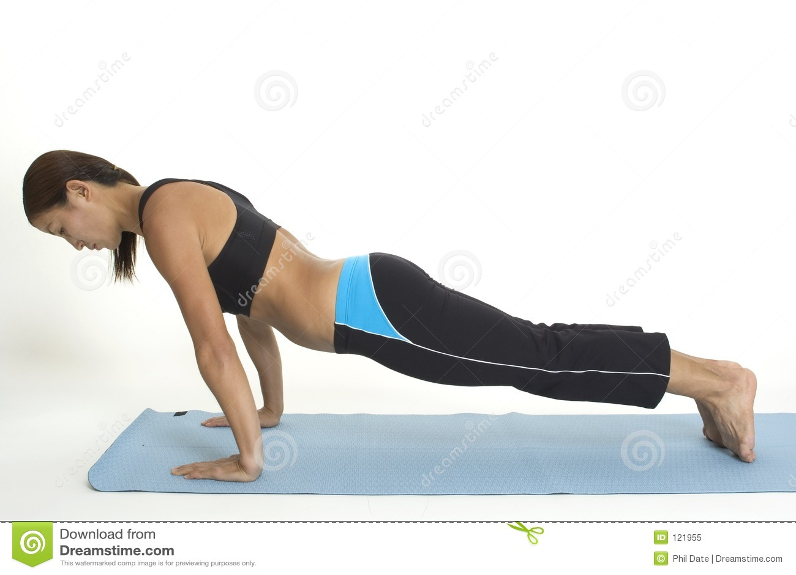 Plank Pose 2 Royalty Free Stock Photo - Image: 121955