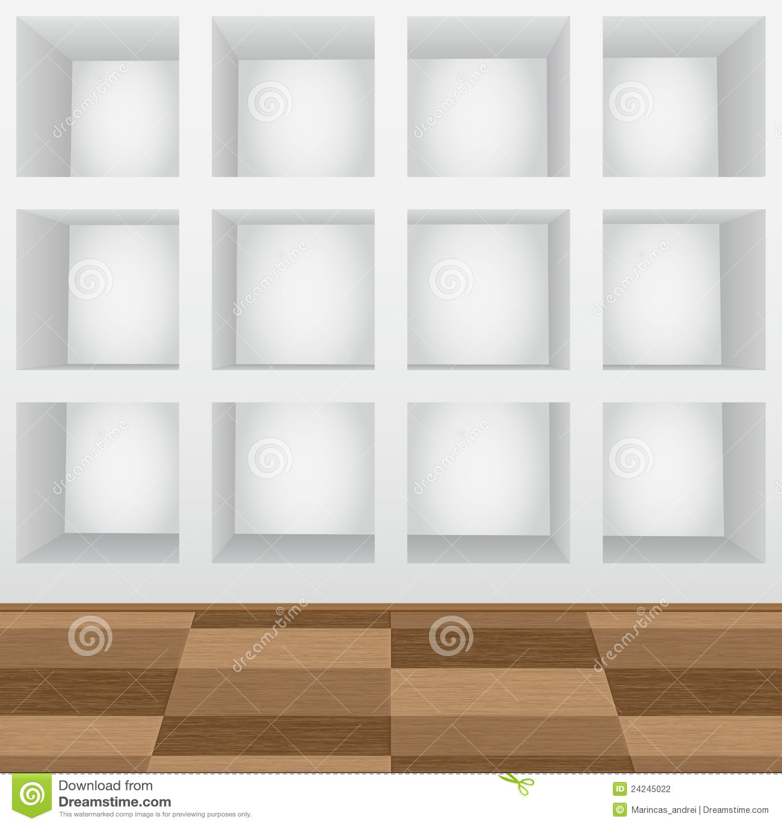 Planken in de muur stock fotografie afbeelding 24245022 - Parket aan de muur ...