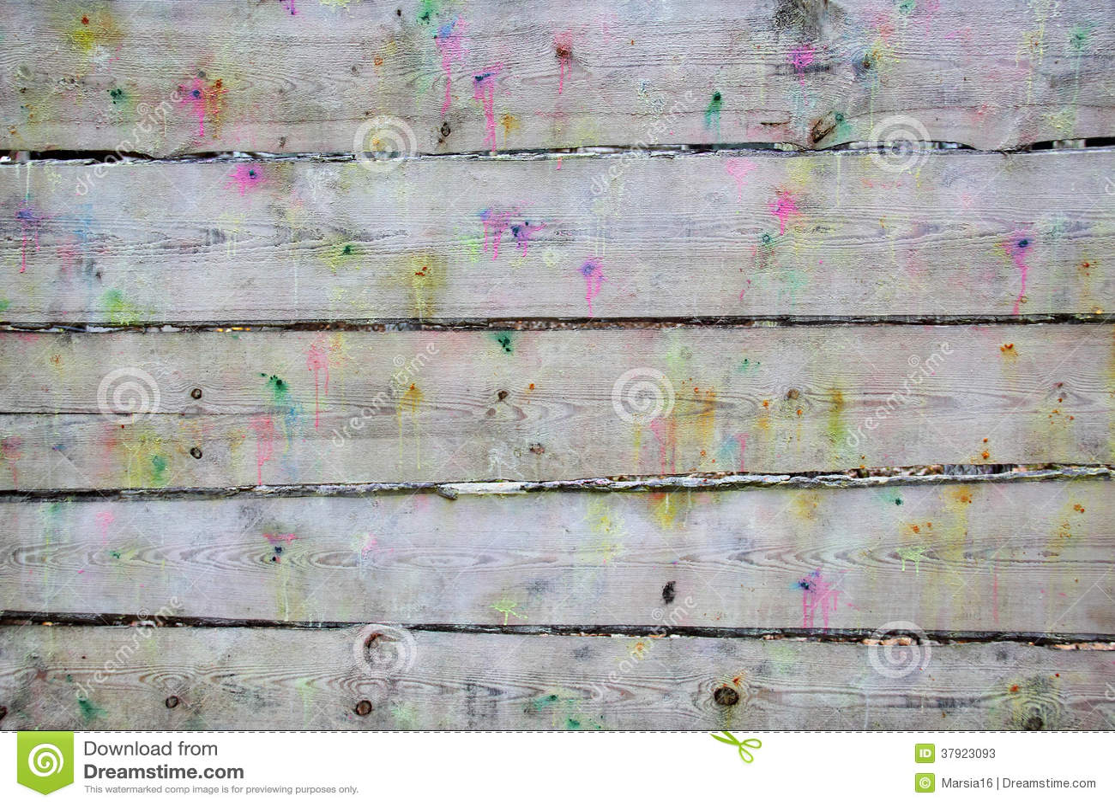 Planken geploeterde schoten van paintballkanonnen