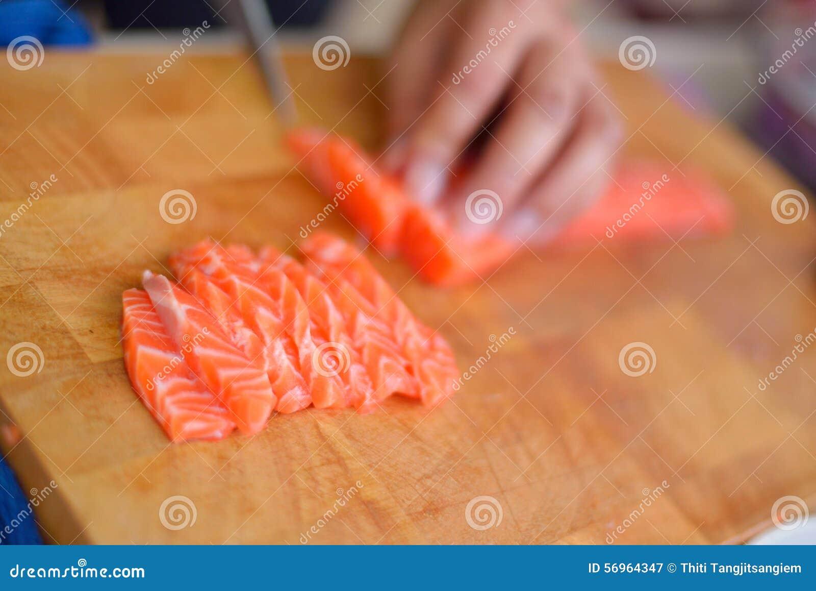 Planlägg praktiska sushi för laxen för elementmenyrestaurangen mycket