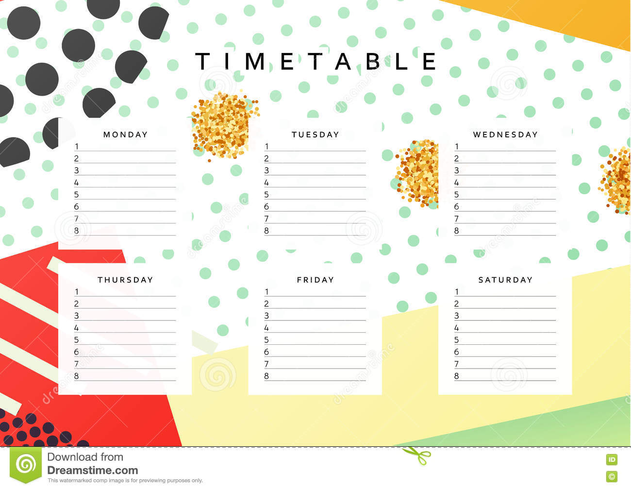 Planner calendar schedule the week abstract design for Dreams by design planner