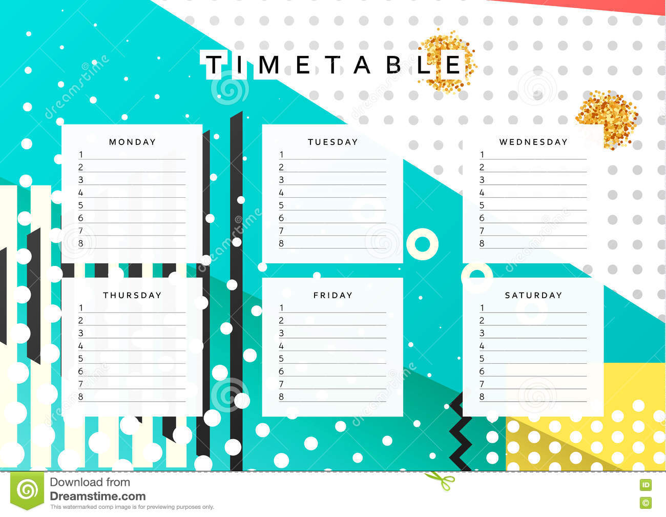 planner calendar schedule the week abstract design background note diary