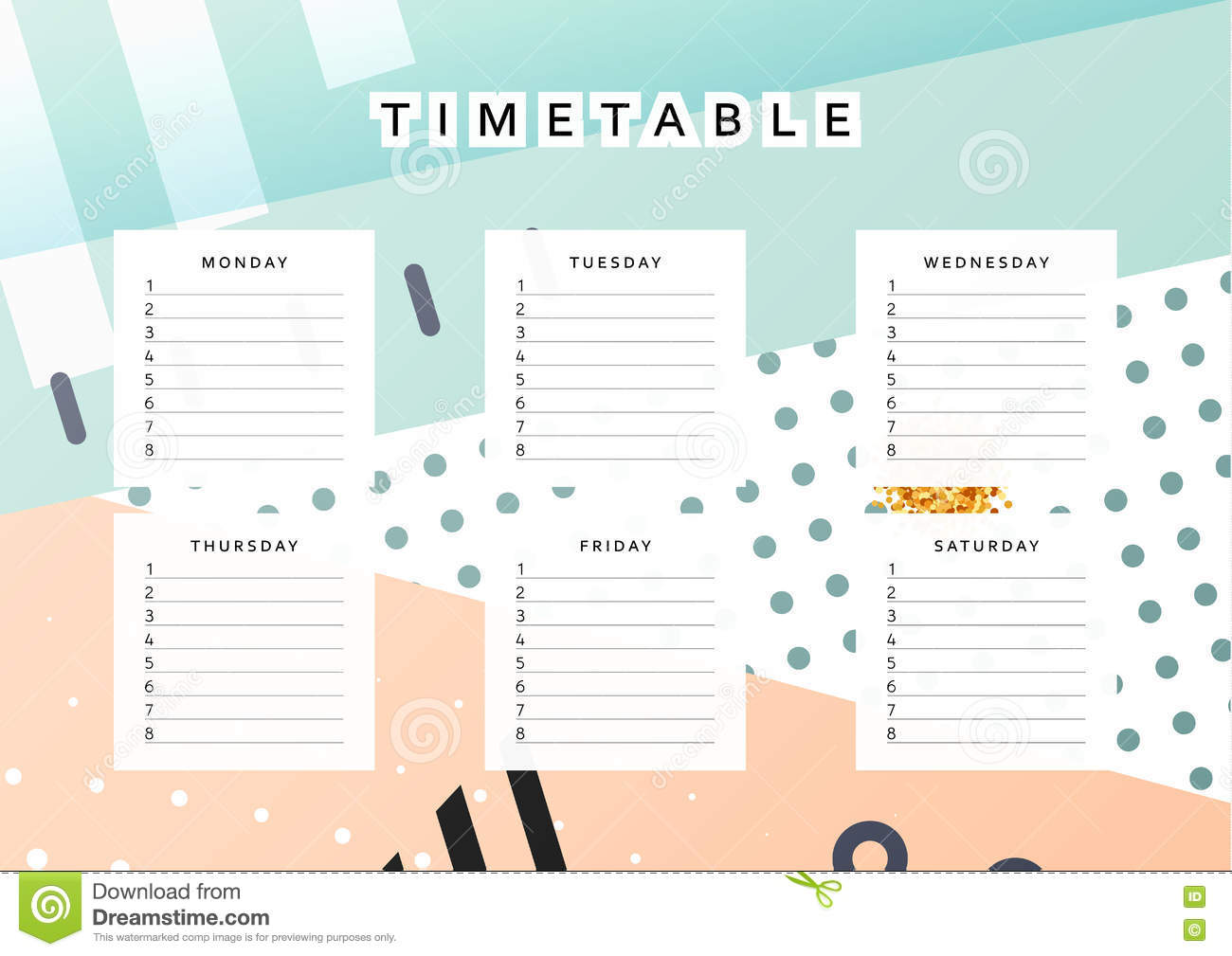 Planner calendar schedule the week abstract design for Designer planners