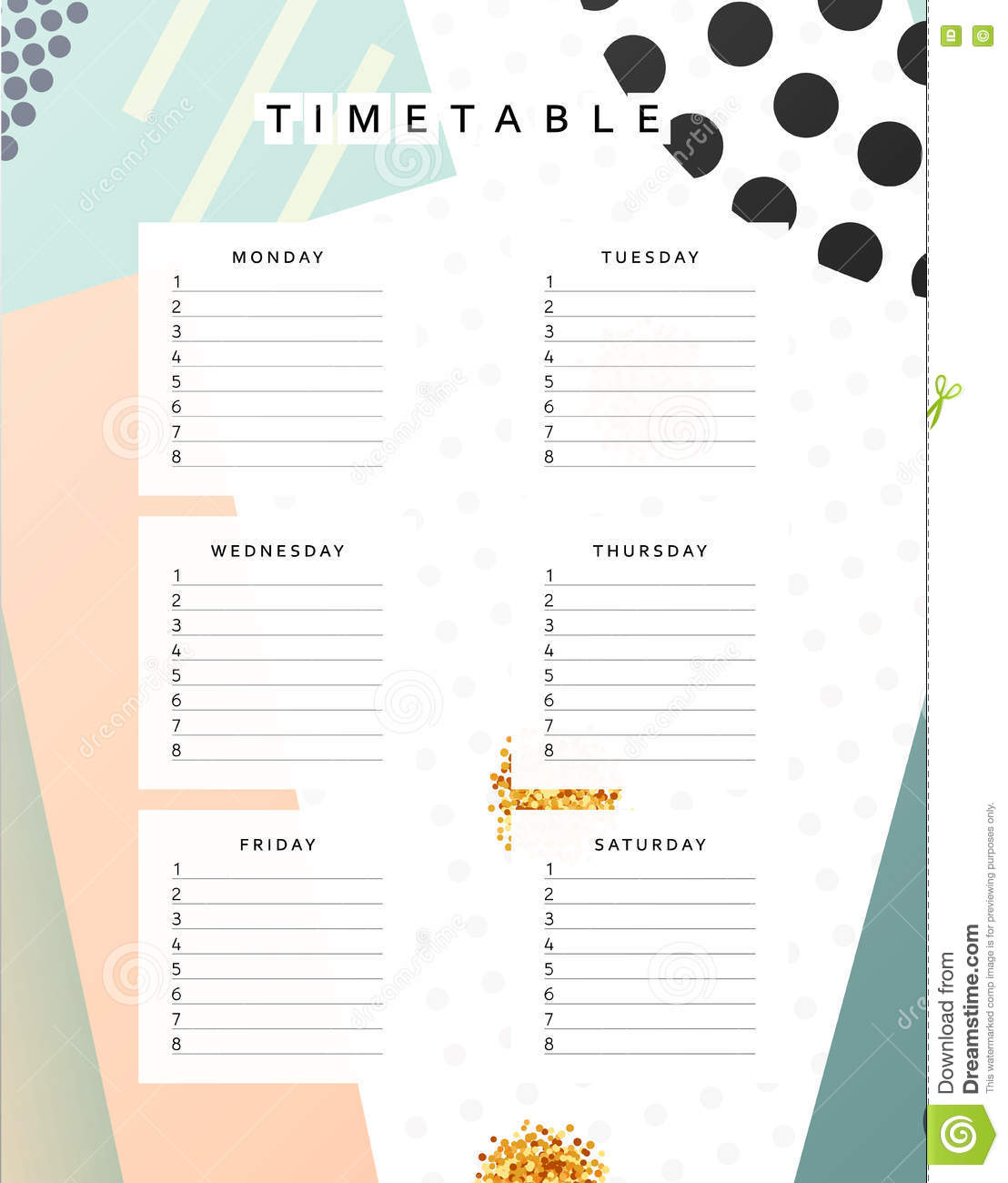 monthly time sheet