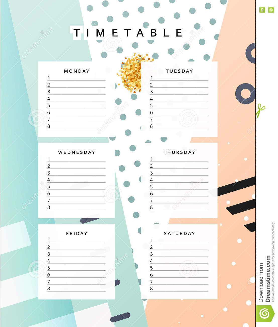 planner calendar schedule the week abstract design background holiday date