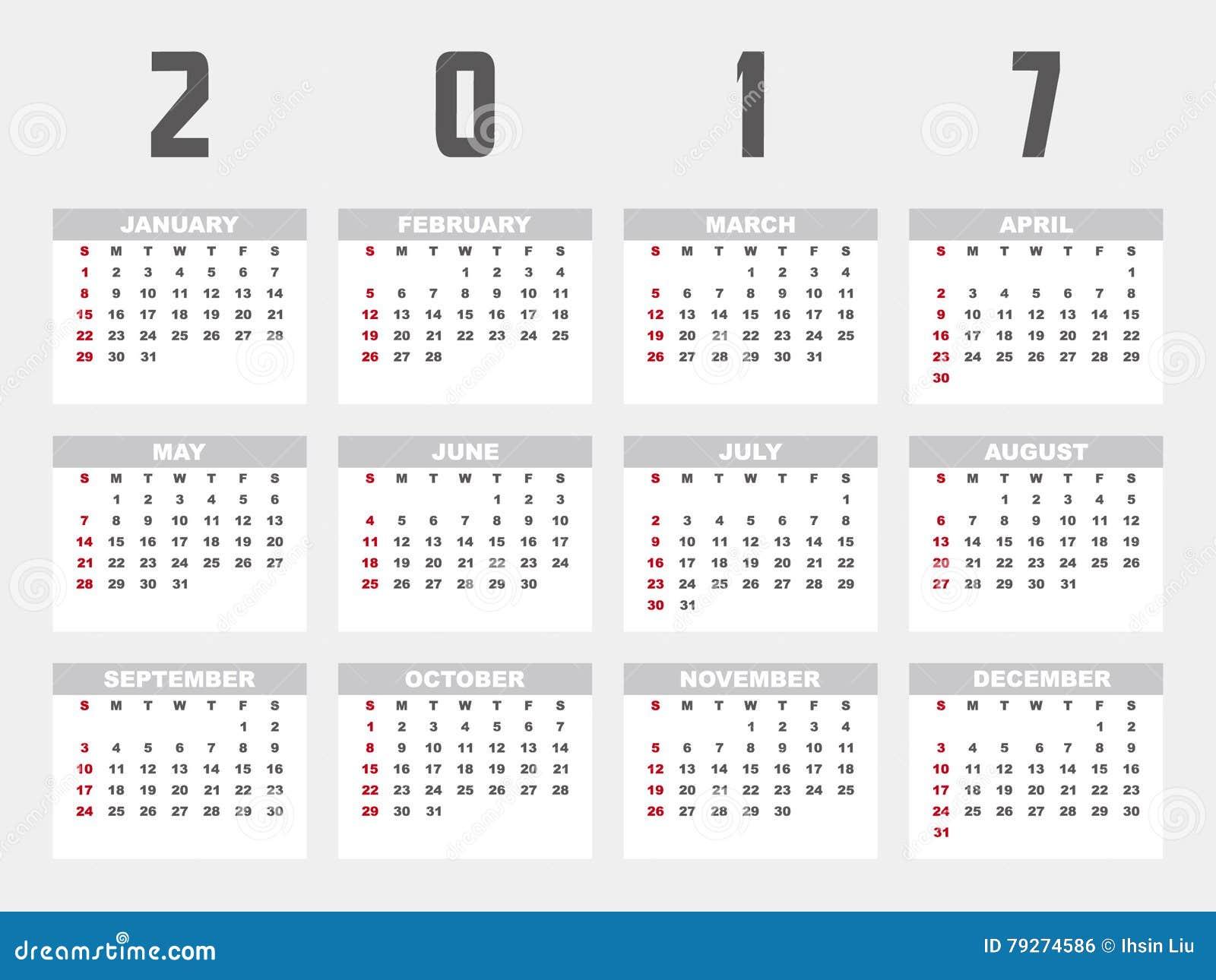 Calendar Design Illustrator : Planner design stock vector image