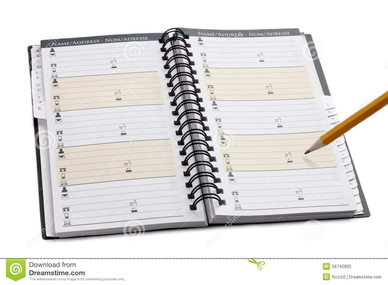 Planner Calendar Notebook Free Download : Planner notebook stock image of meeting pencil