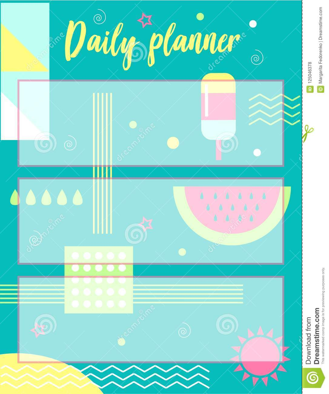 photo regarding Daily Planner Notebook known as Every day planner inventory vector. Example of laptop computer - 125046378
