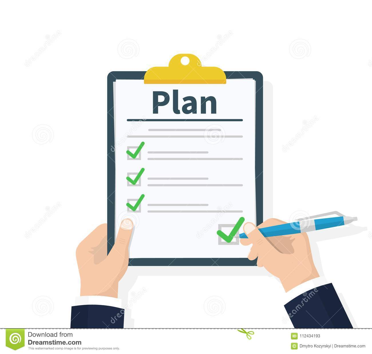 planning clipboard business tactic clipboard with checklist and