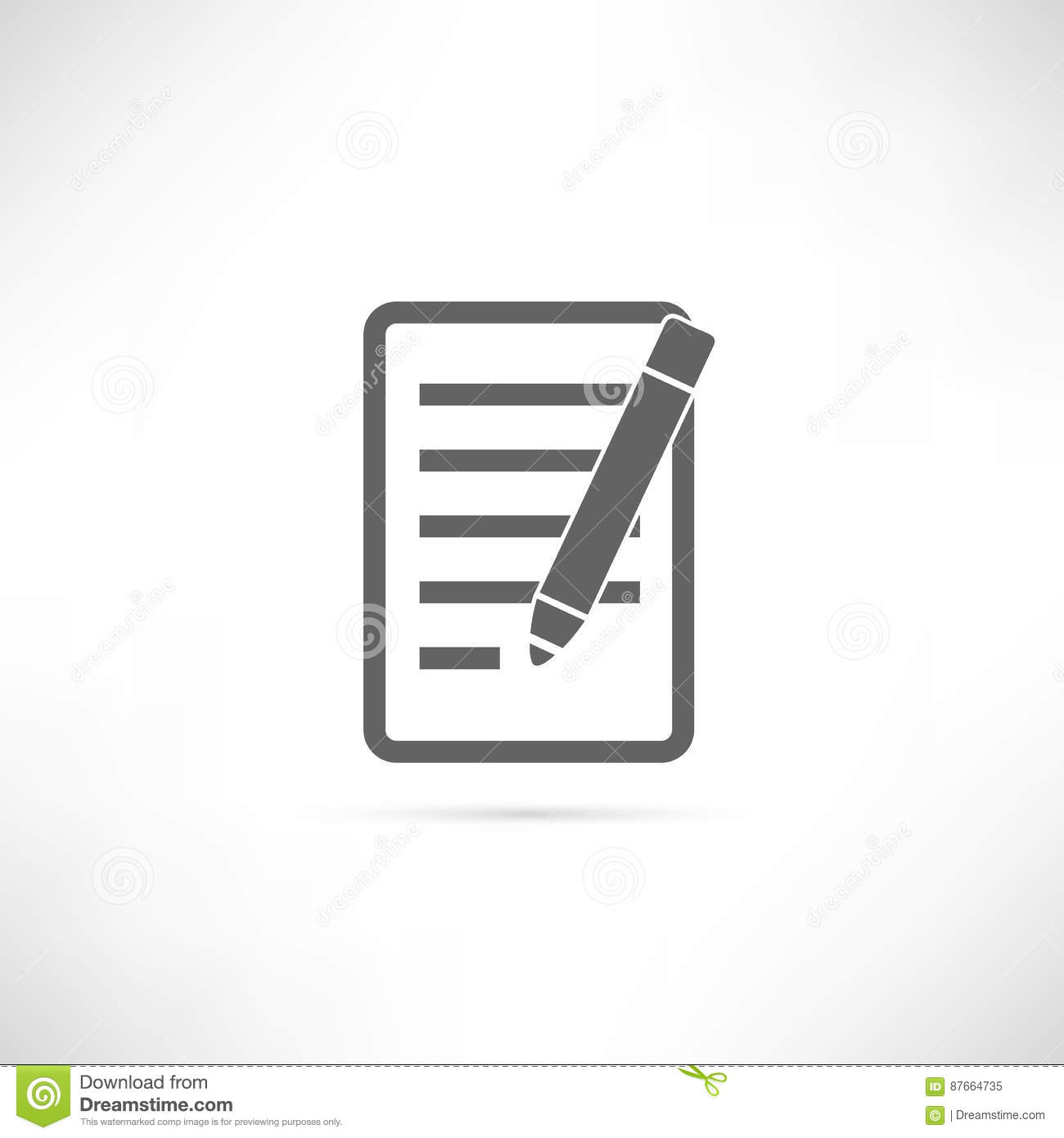 Planning icon stock vector illustration of paper outline 87664735 planning icon biocorpaavc Choice Image