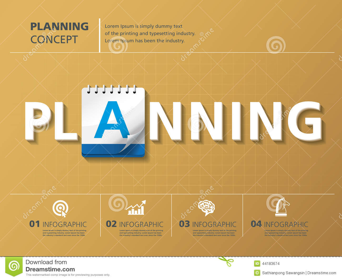 Planning Stock Vector Image 44183674