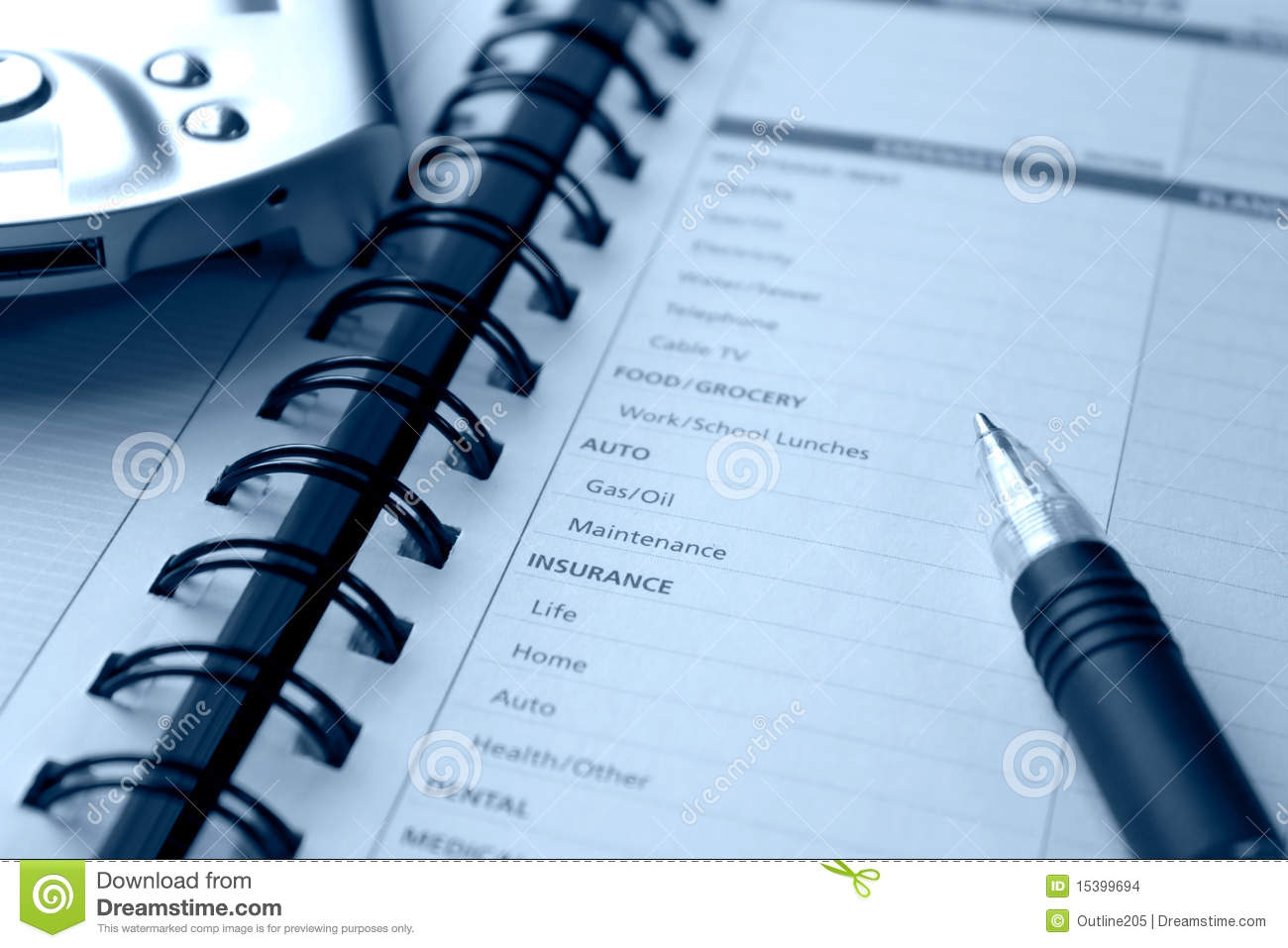 Planning Personal Expenses Stock Images - Image: 15399694