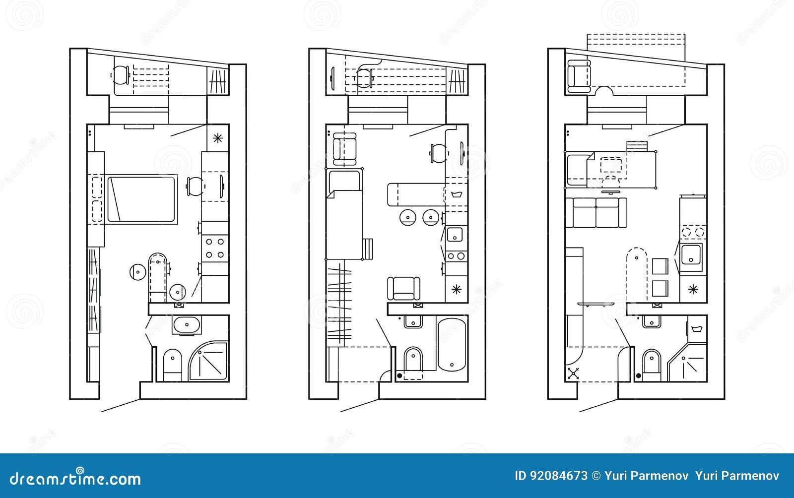 Plano arquitet nico de uma casa disposi o do apartamento for Plano b mobilia
