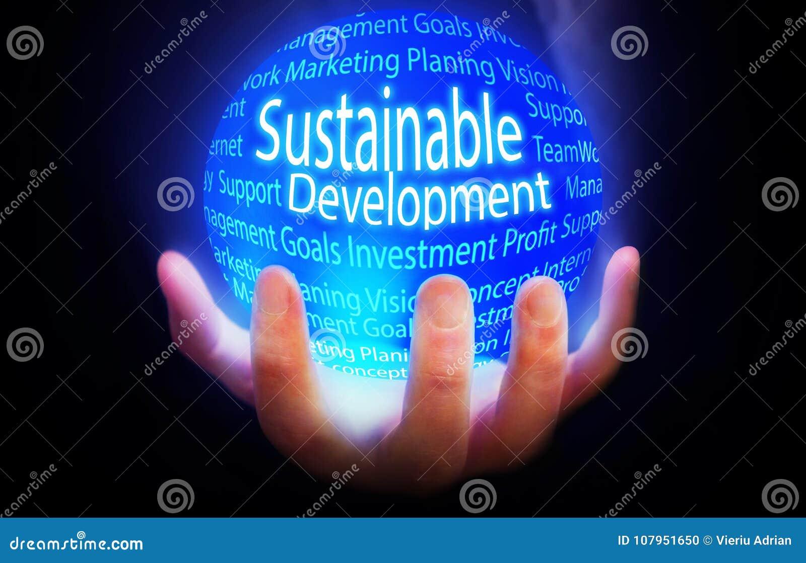 Plano azul do fundo do desenvolvimento sustentável
