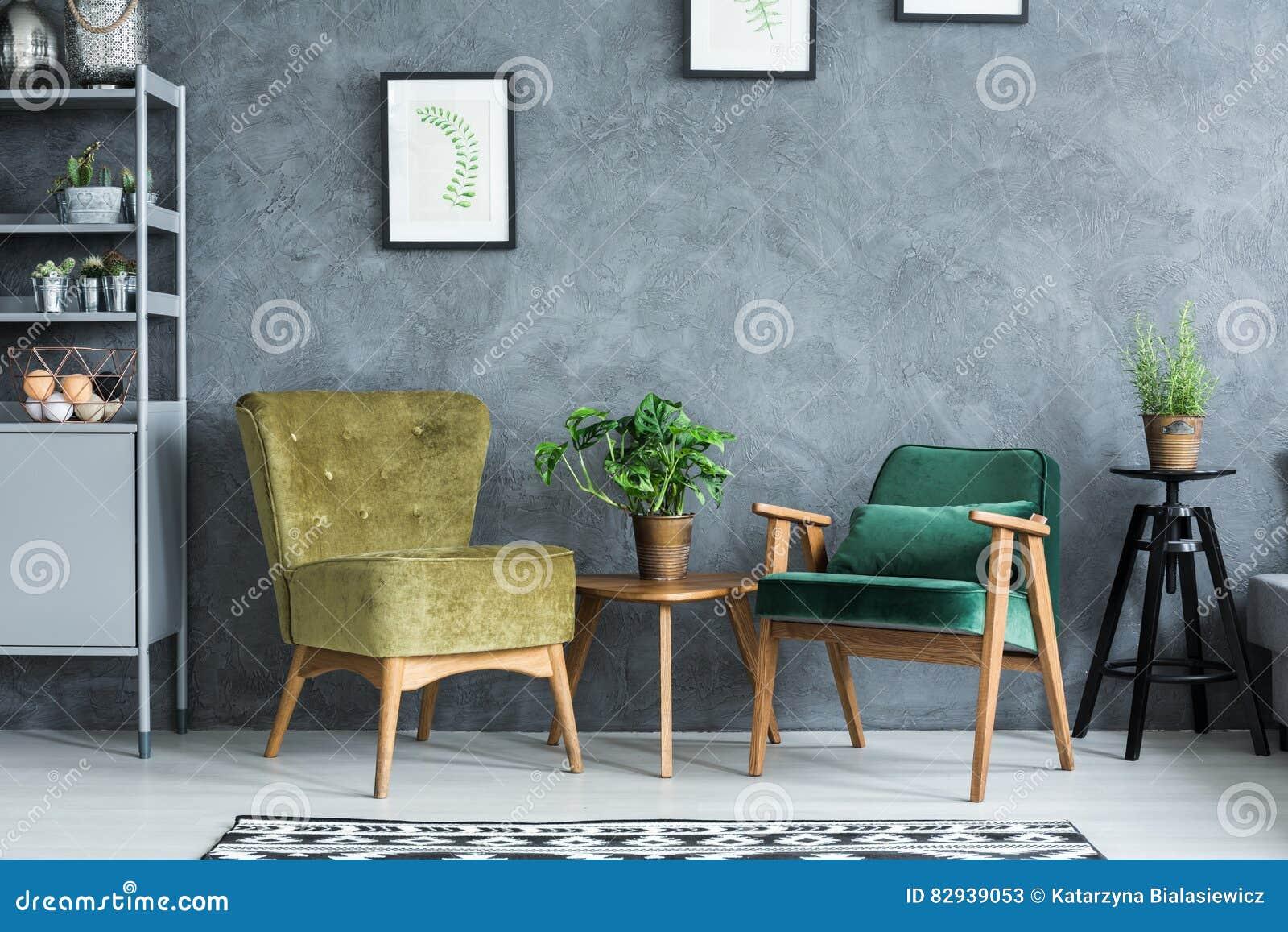 Plano con muebles modernos