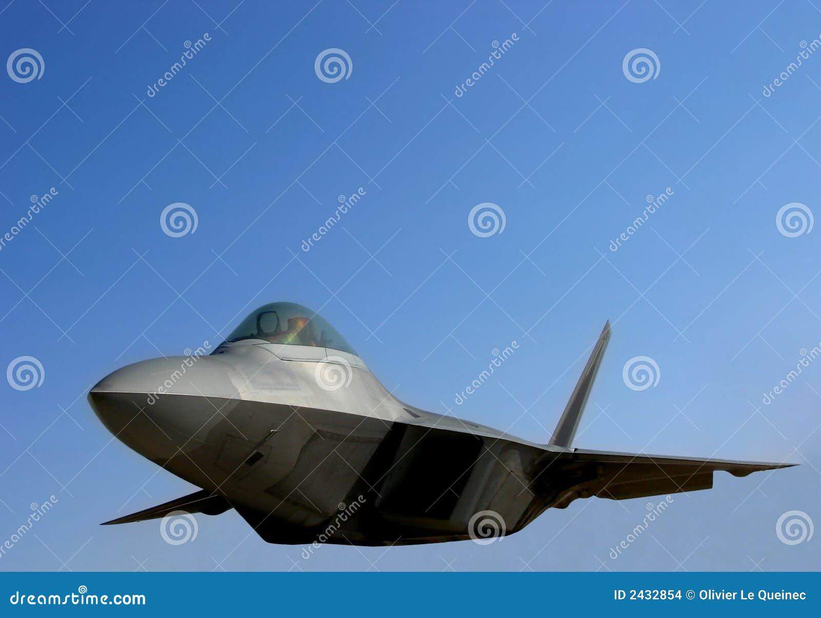 Plano da força aérea da ave de rapina F22