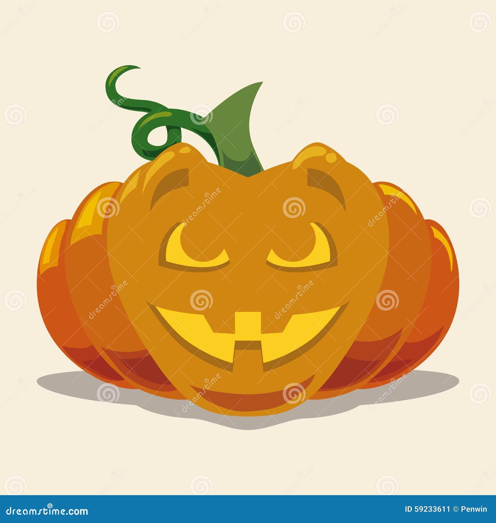 Plano de la calabaza de Halloween aislado