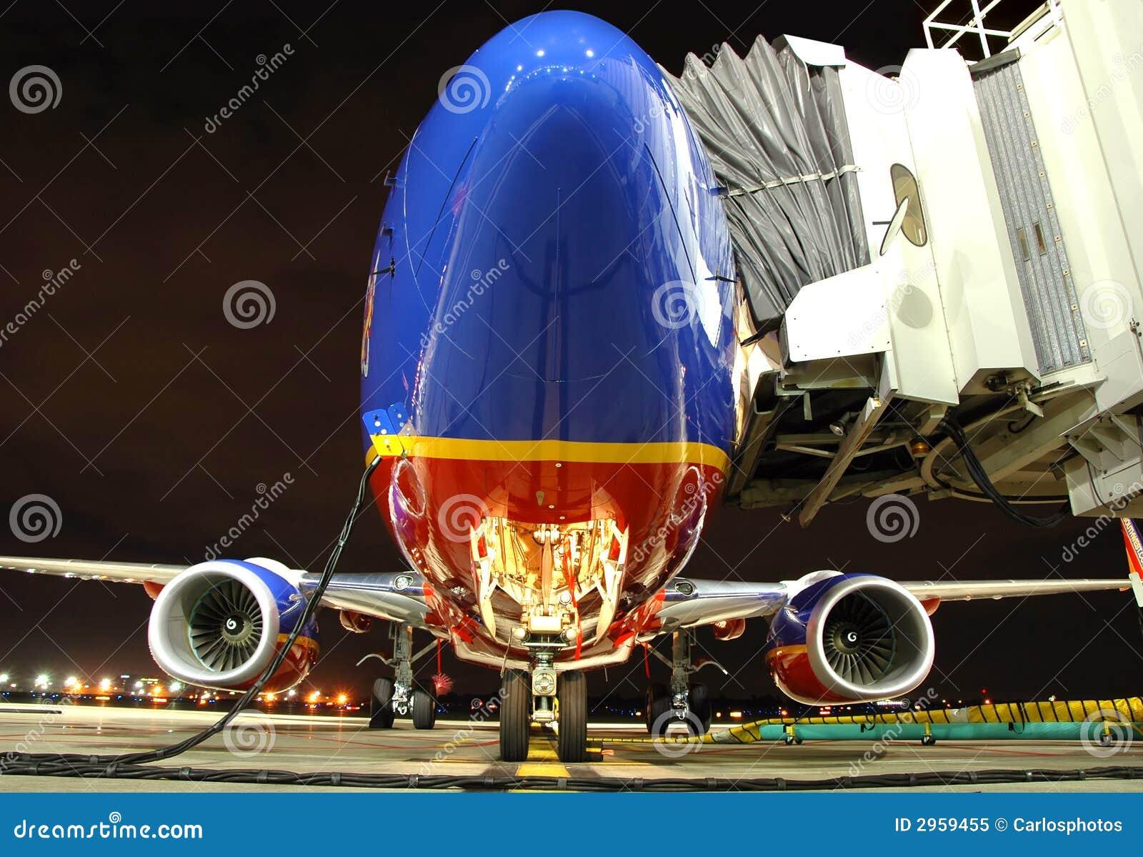 Plano de Southwest Airlines en el th