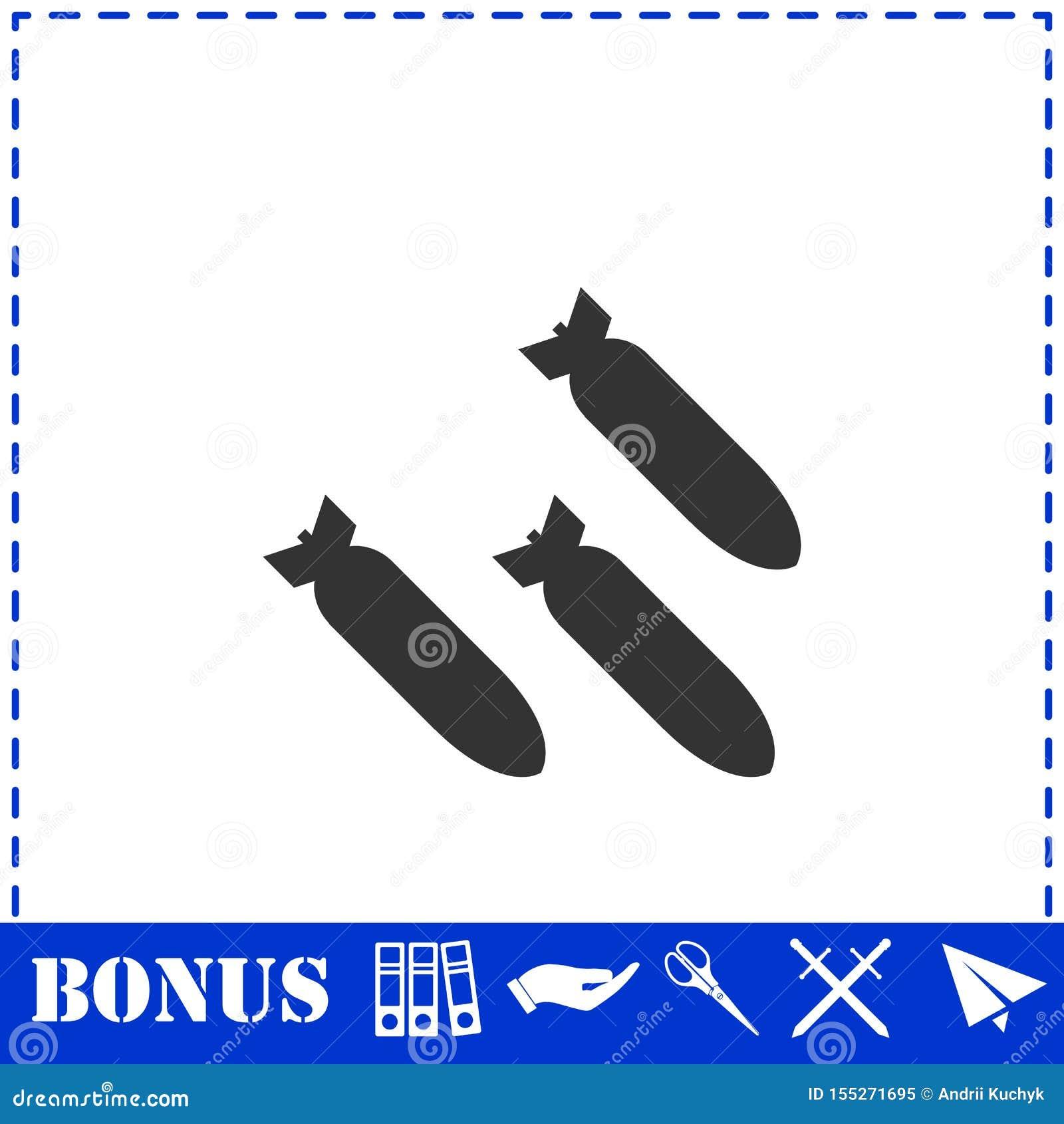 Plano del icono del bombardeo