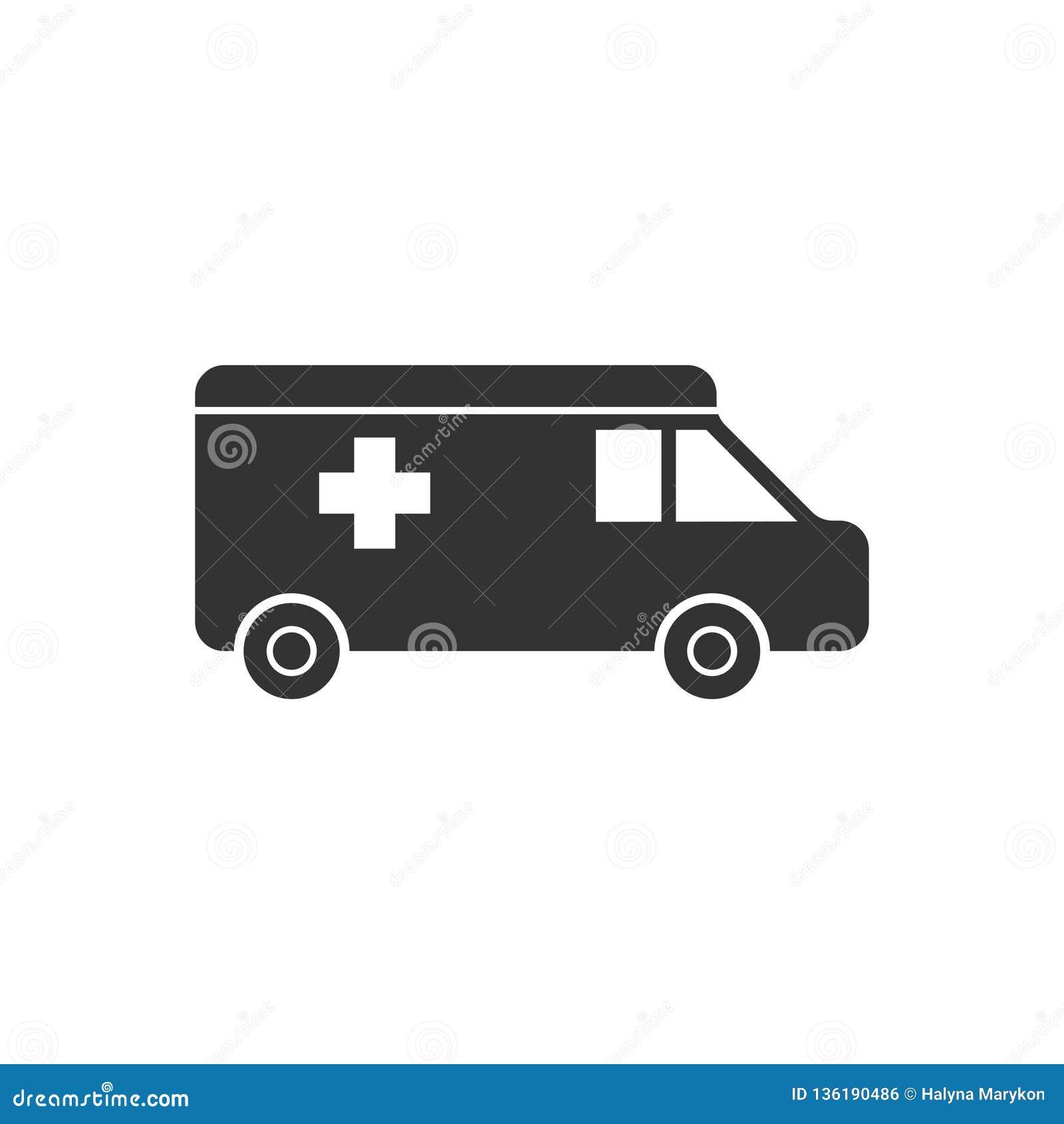 Plano del icono de la ambulancia