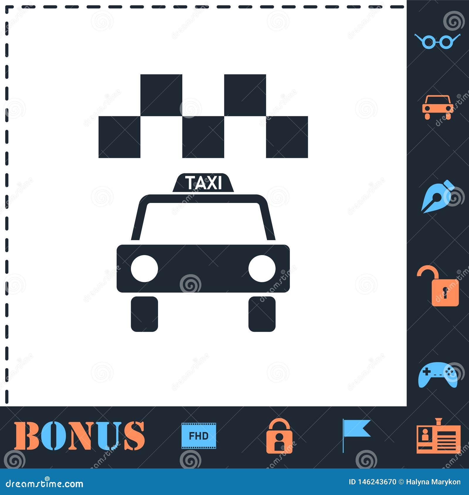 Plano del icono del taxi