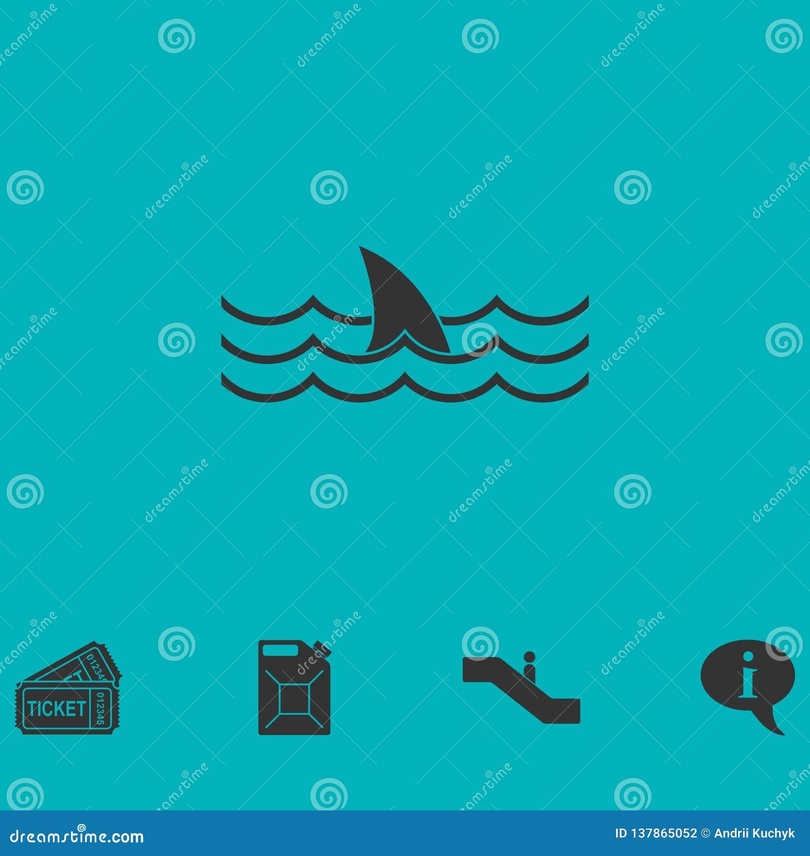 Plano del icono del tiburón