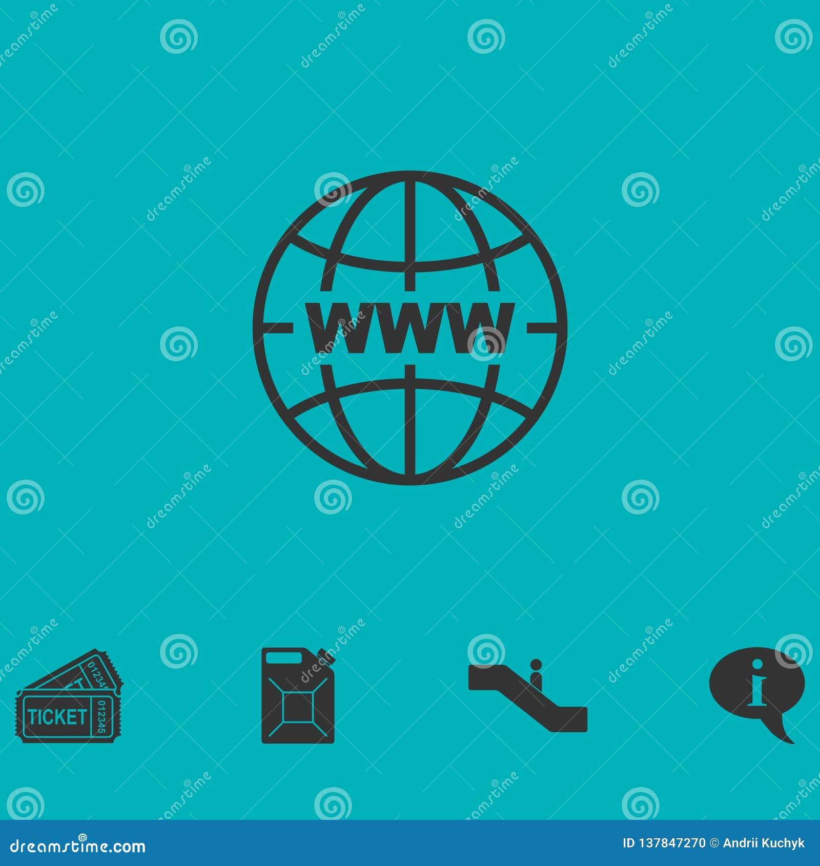 Plano del icono del World Wide Web